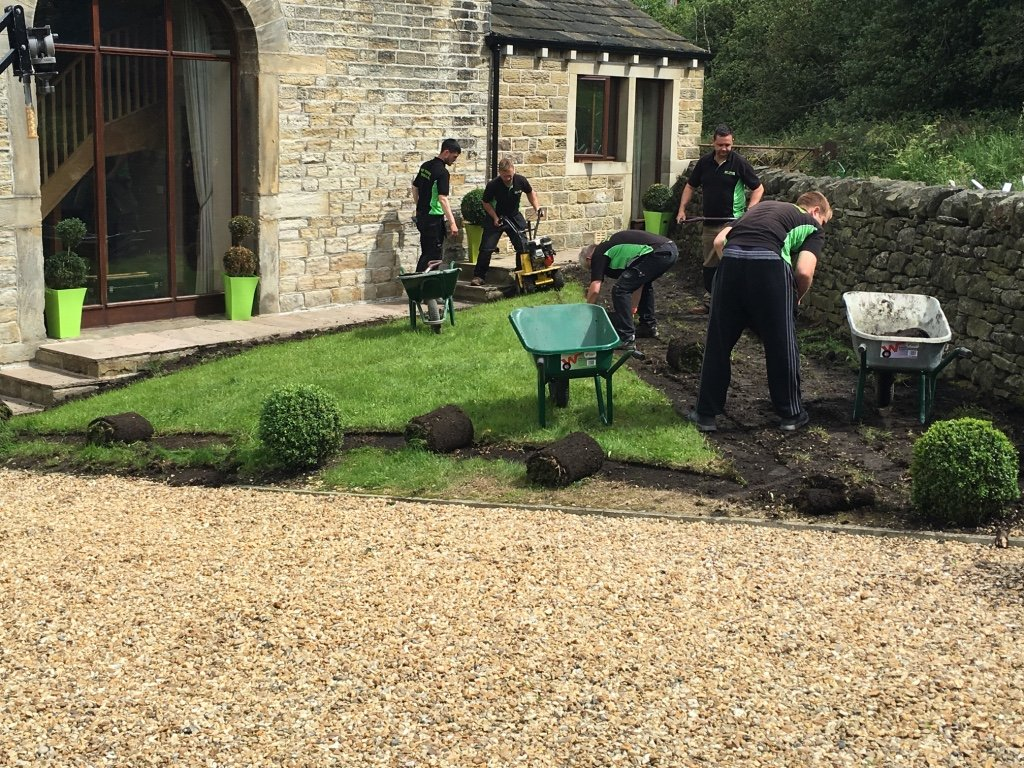 artificial grass installation step 1