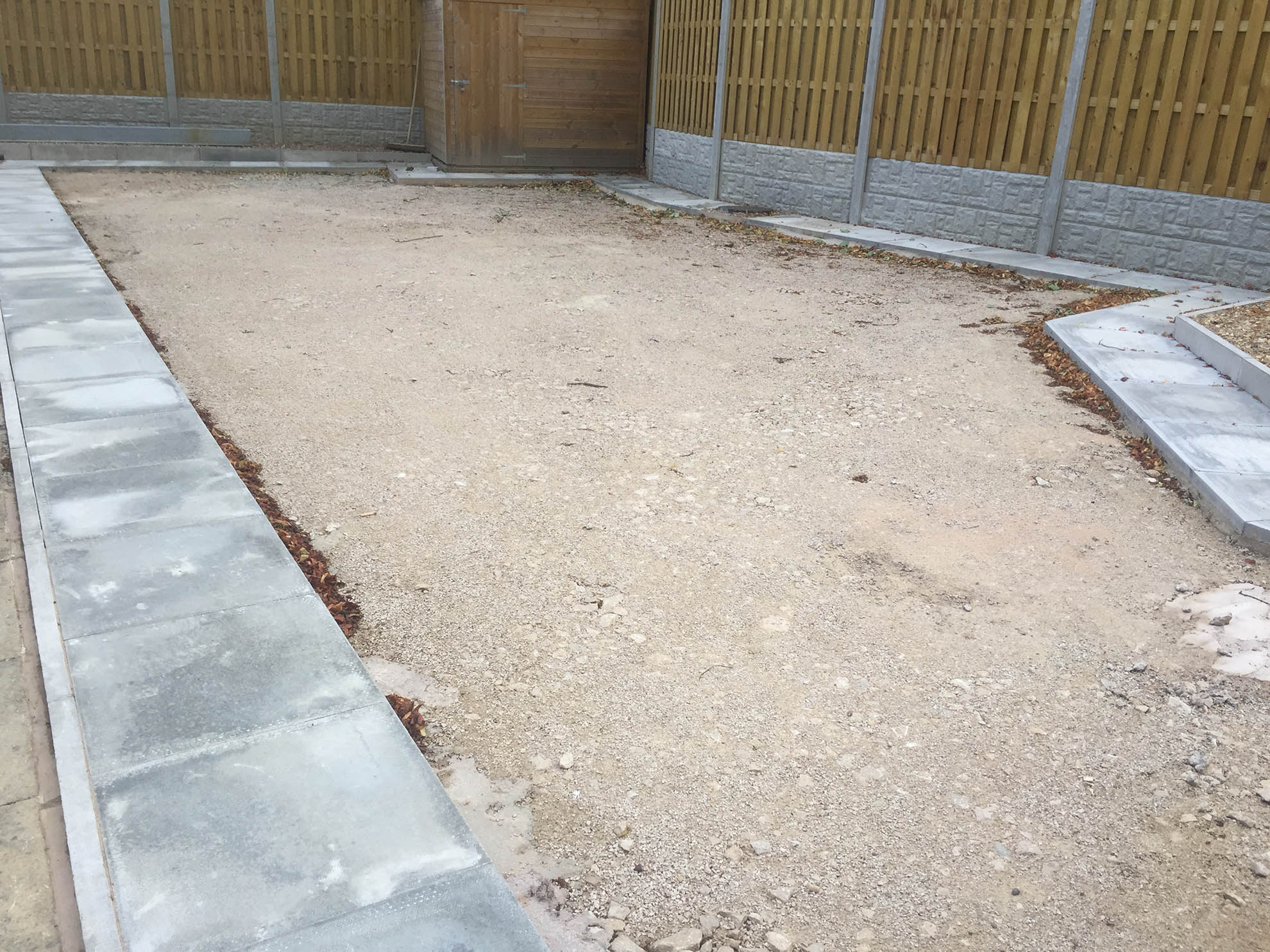 Patio Area - Leeds, West Yorkshire. Before Artificial Grass
