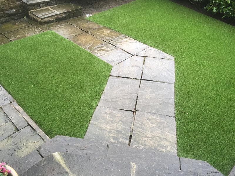 Headingley Back Garden Artificial Grass Installation