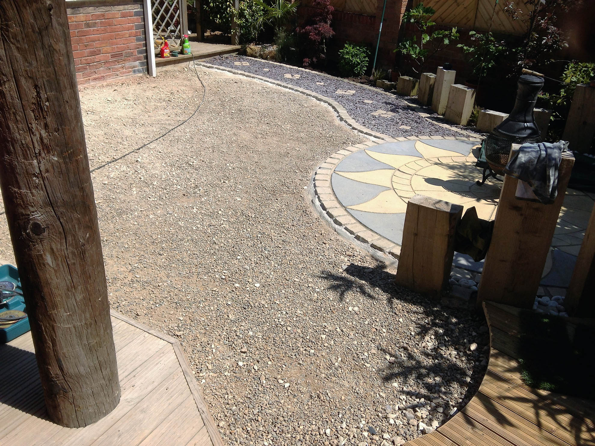 30mm Artificial Grass Garden Knaresborough Yorkshire - before