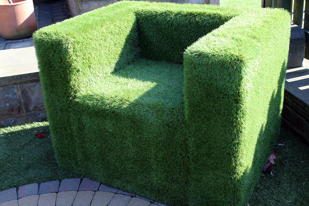 Artificial Grass Chair - Polished Artificial Grass