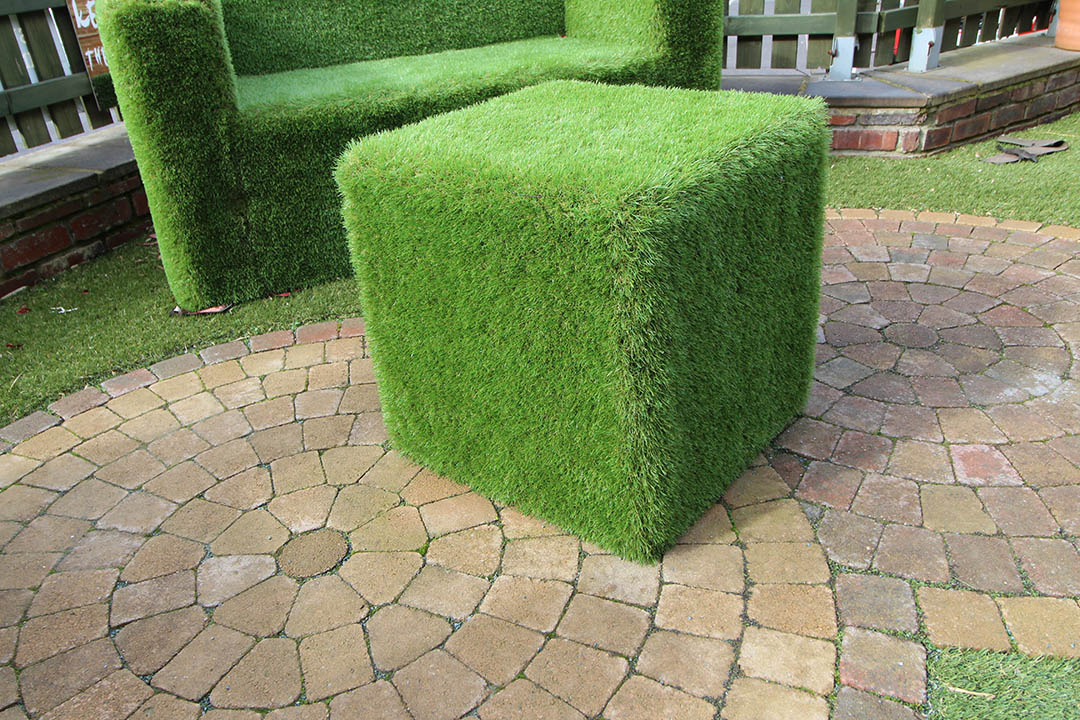 Artificial Grass Cube - Polished Artificial Grass