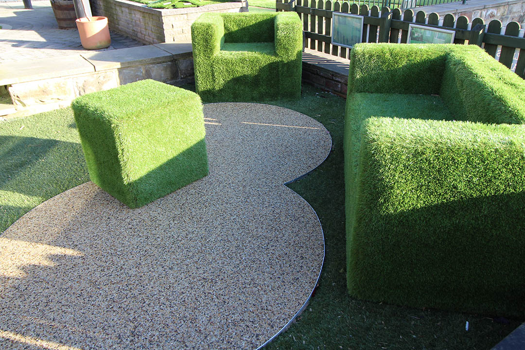 Artificial Grass Furniture - Polished Artificial Grass