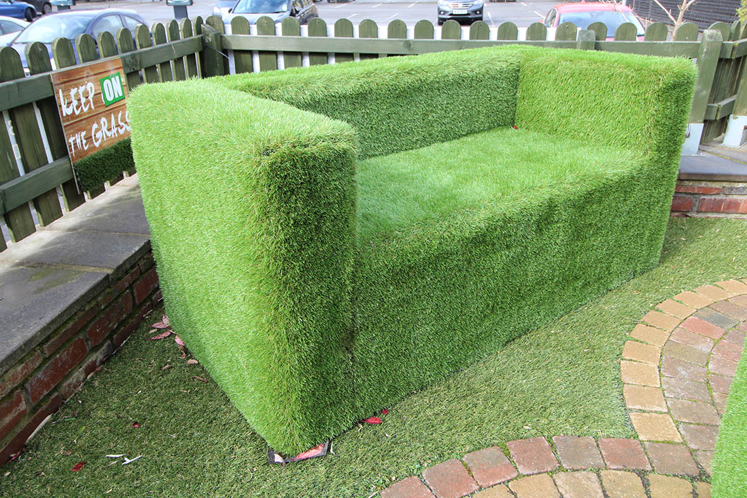 Artificial Grass Sofa - Polished Artificial Grass