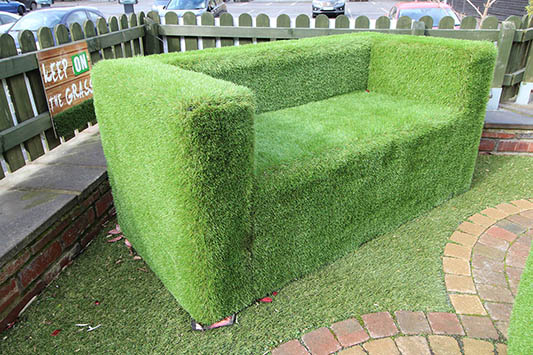artificial grass sofas