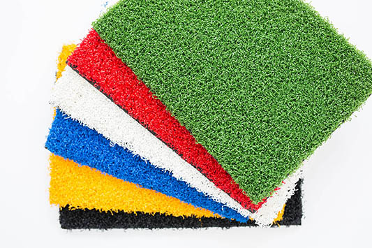 multicoloured artificial grass