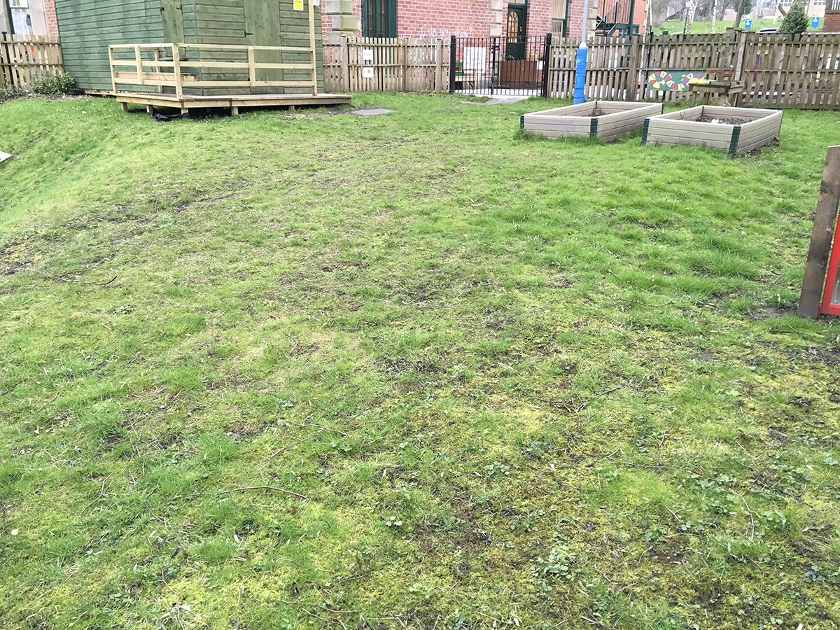 Primary School, Headingley, Leeds - Before Artificial Grass