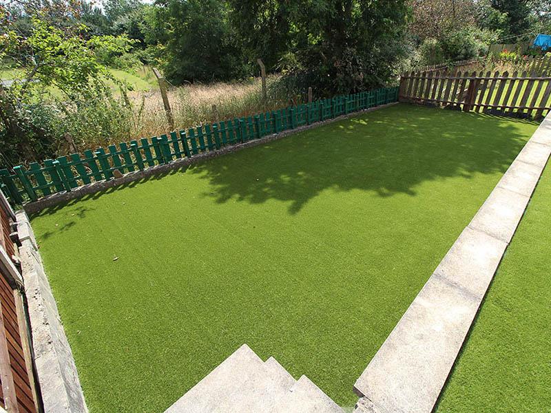 Back Garden Harrogate Yorkshire after Artificial Grass