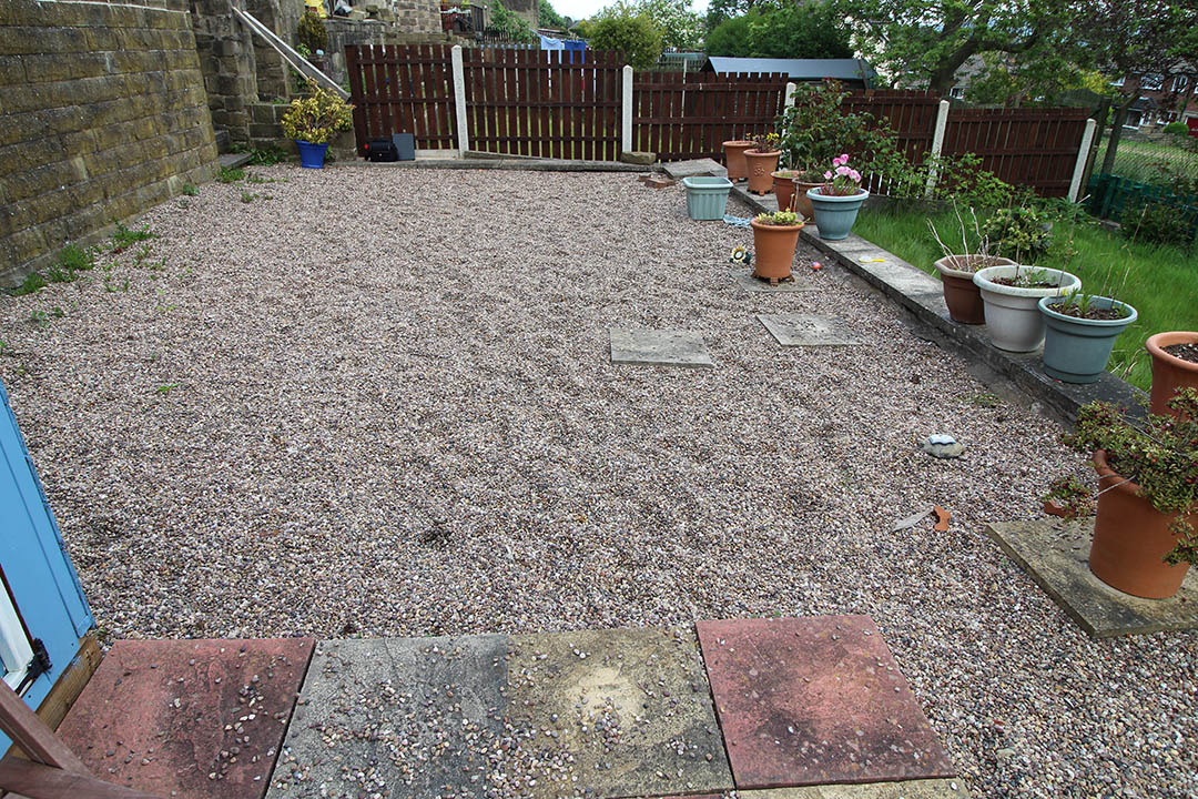 Back Garden Harrogate Yorkshire before Artificial Grass
