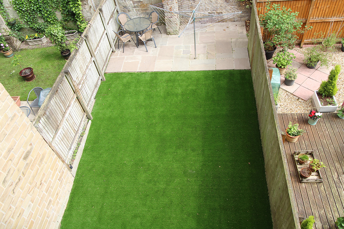 Back Garden Morley Leeds - afterArtificial Grass