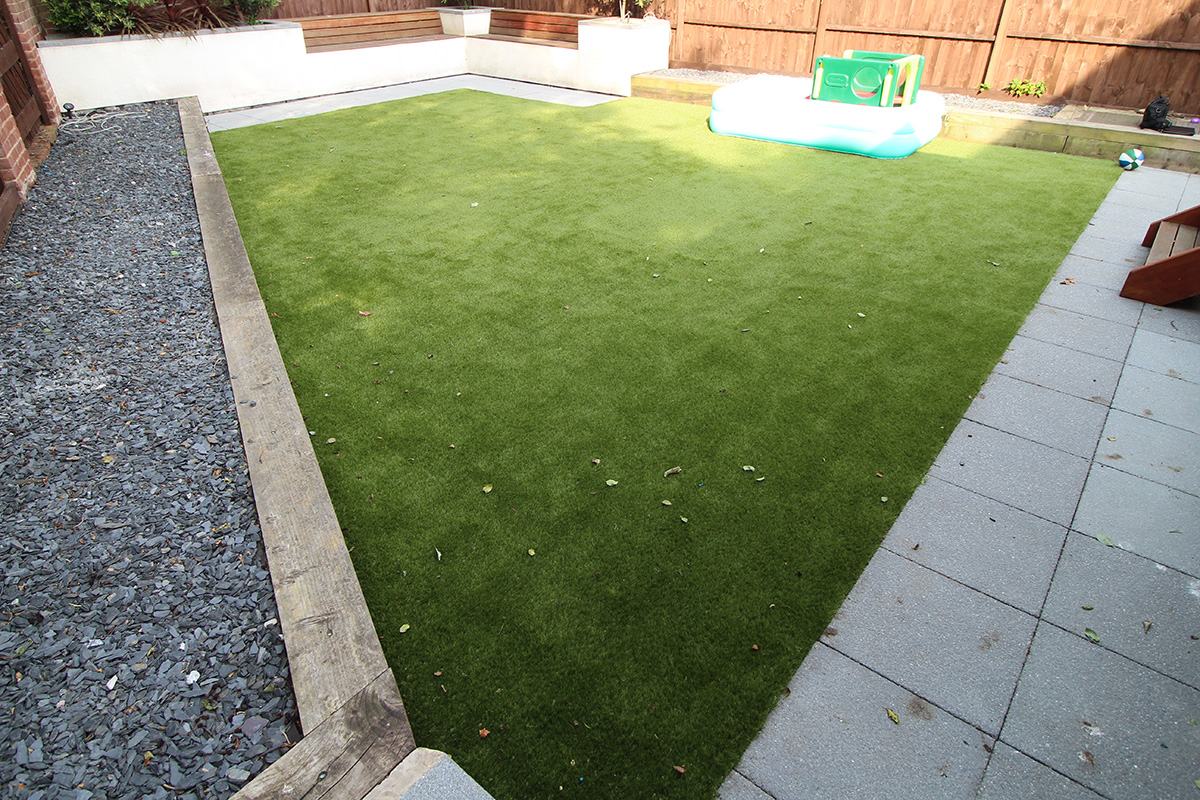 Back Garden Morley Leeds - Before Artificial Grass