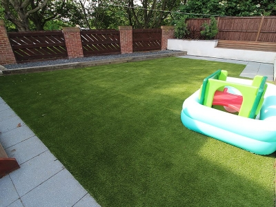 Back Garden Morley Leeds - After Artificial Grass
