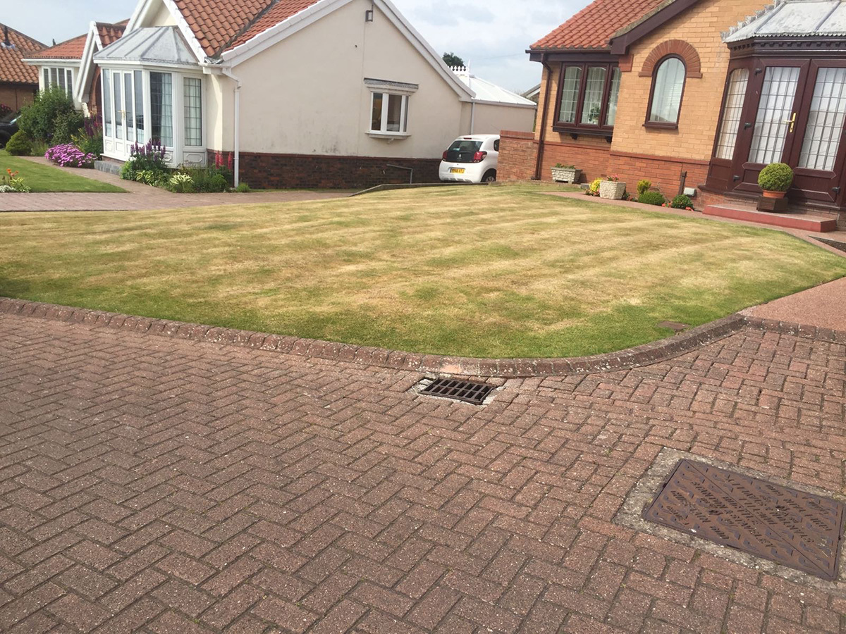 Front Garden Bridlington - Before Artificial Grass
