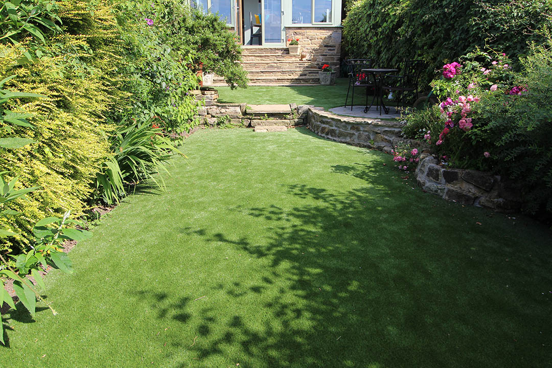 Back Garden Rawdon Leeds after Artificial Grass