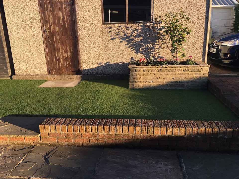 Back garden Harrogate - after artificial grass - Polished Artificial Grass