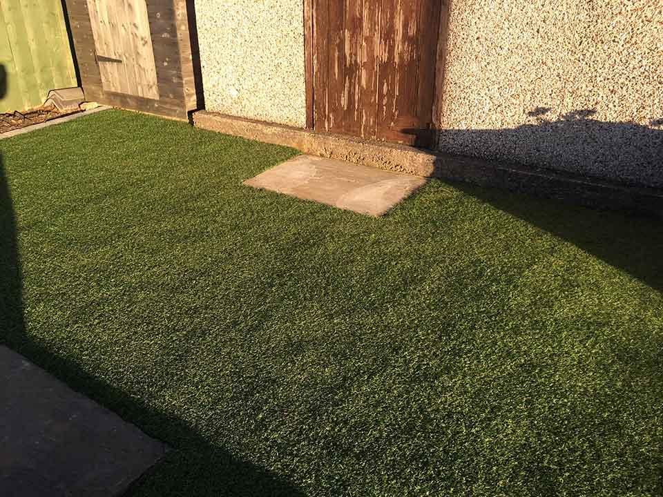 Back garden Harrogate - after artificial grass - Polished Artificial Grass