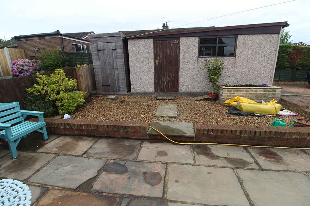 Back Garden - Harrogate before artificial grass - Polished Artificial Grass