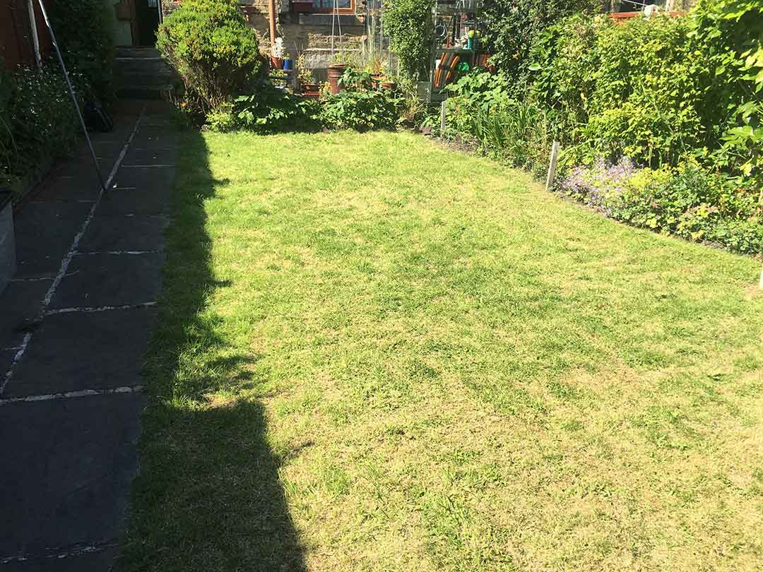 Back Garden - Harrogate - before artificial grass - Polished Artificial Grass