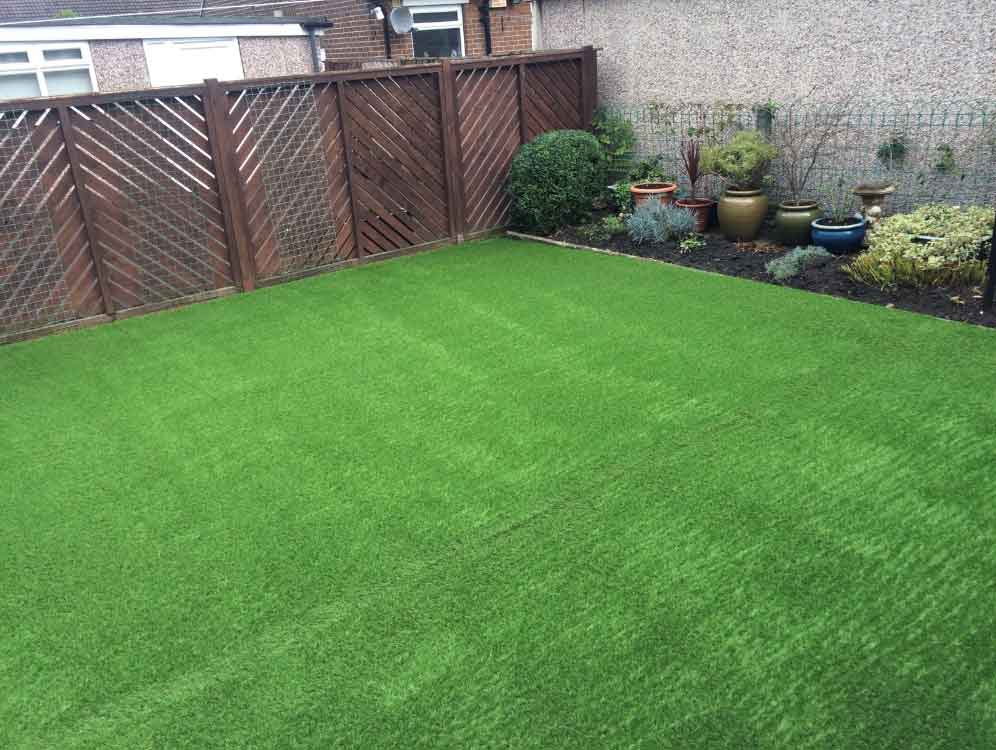 Back Garden York North Yorkshire Polished Artificial Grass