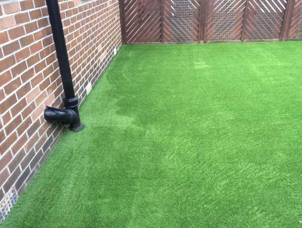 Back garden York - after artificial grass - Polished Artificial Grass