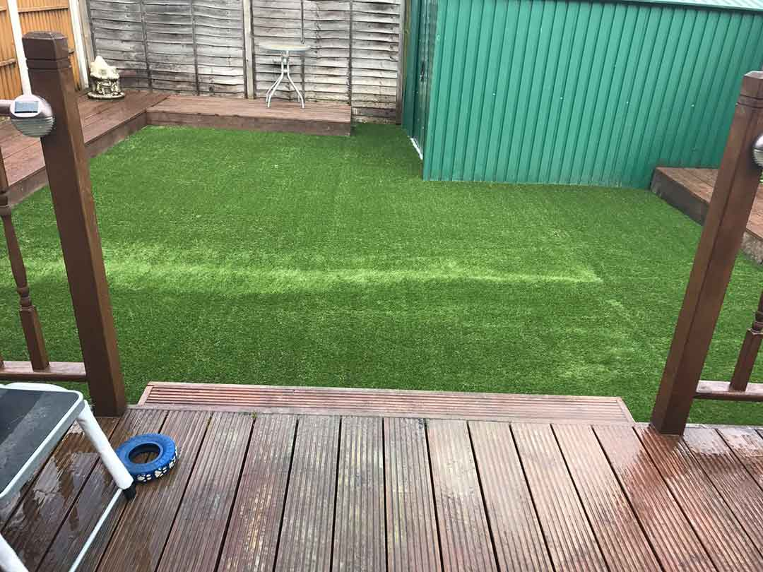 Back garden Wakefield - after artificial grass - Polished Artificial Grass