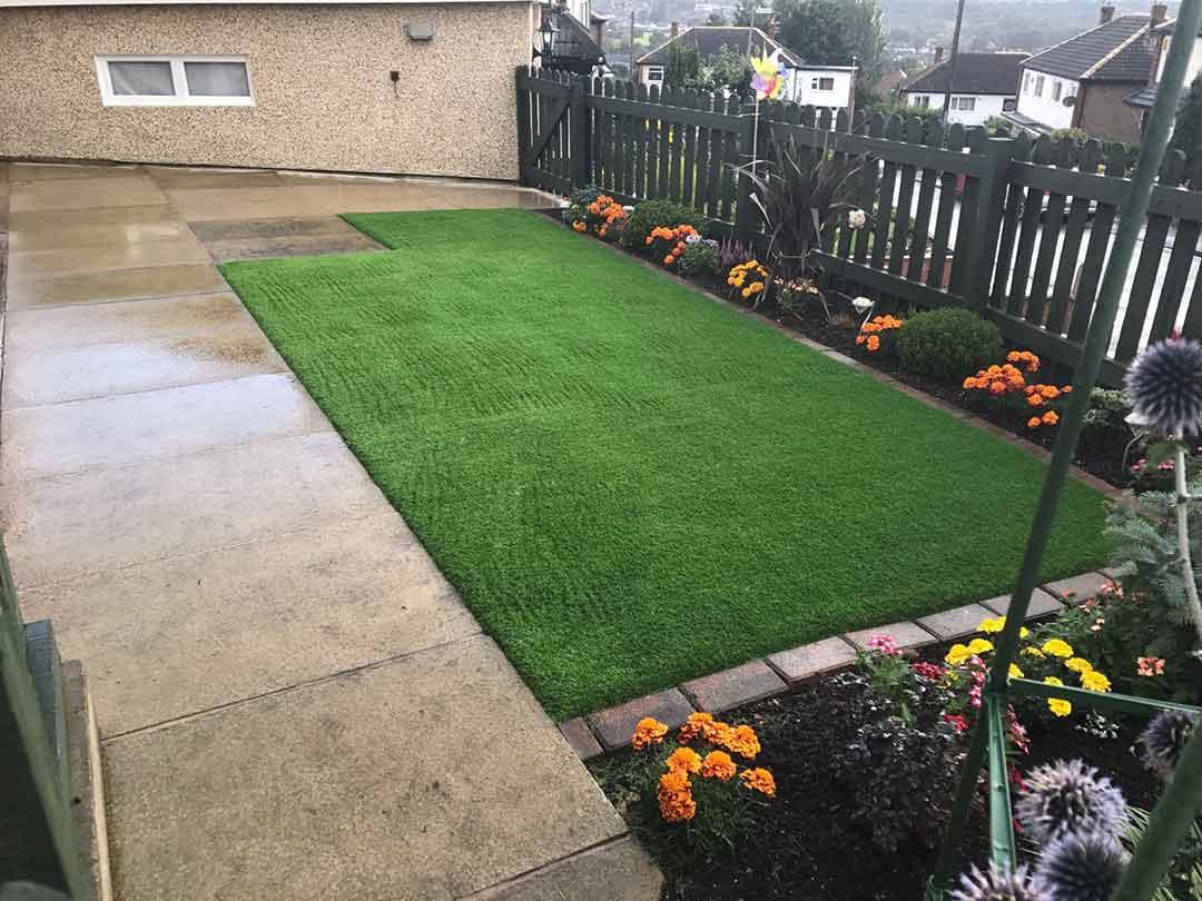 Back garden Wakefield - after artificial grass - Polished Artificial Grass