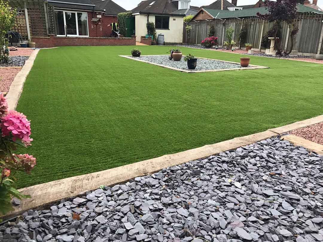 Harrogate garden - after 35mm spring artificial grass - Polished Artificial Grass