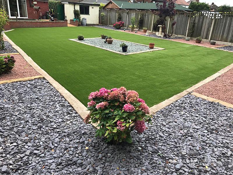 Harrogate garden - after 35mm spring artificial grass - Polished Artificial Grass