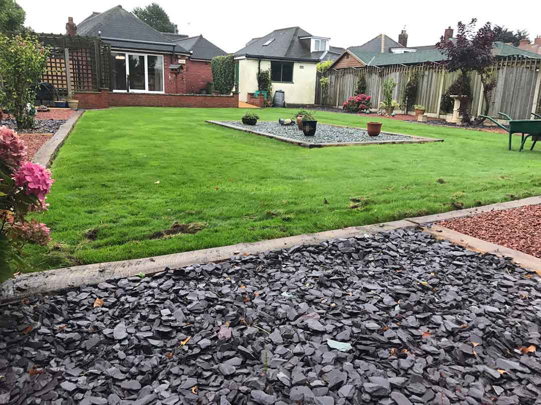 Harrogate garden - before 35mm spring artificial grass - Polished Artificial Grass