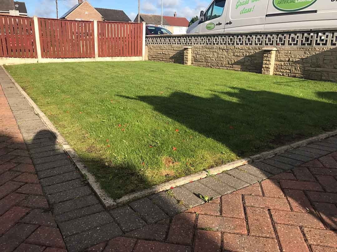 Small Front Garden Wakefield - before artificial grass - Polished Artificial Grass