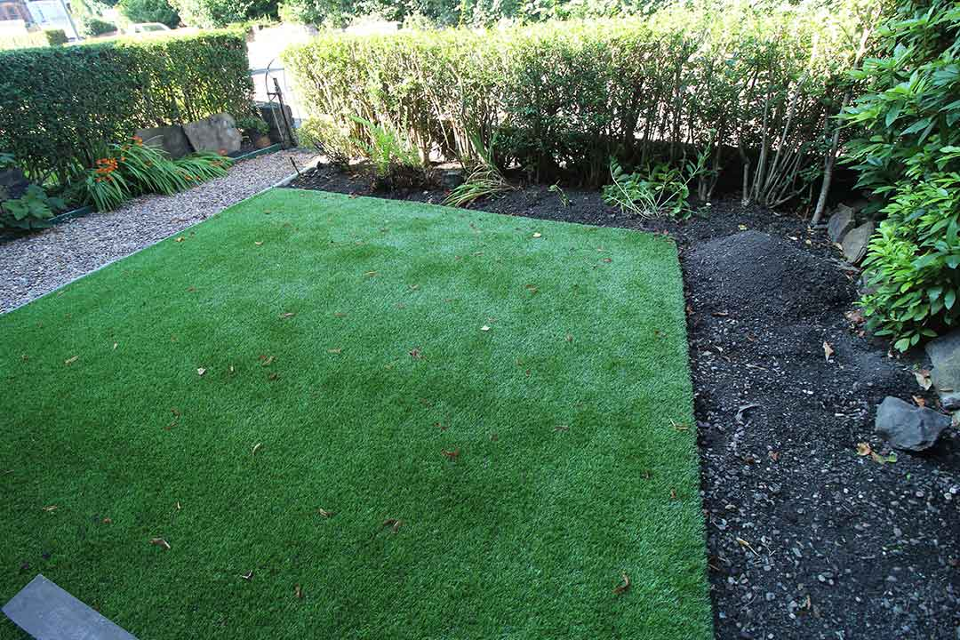 Small Garden - Harrogate - after artificial grass - Polished Artificial Grass